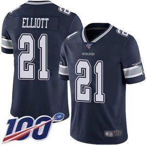 Cowboys Ezekiel Elliott 100th Season Jersey 2